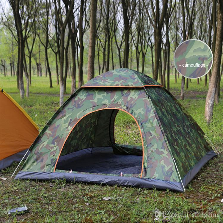 2-3 Person Automatic Tent Outdoor Foldable Pop Up Open Tent Camping Hiking Beach Travel UV Protection Sunshelter Waterproof Tent VT0164