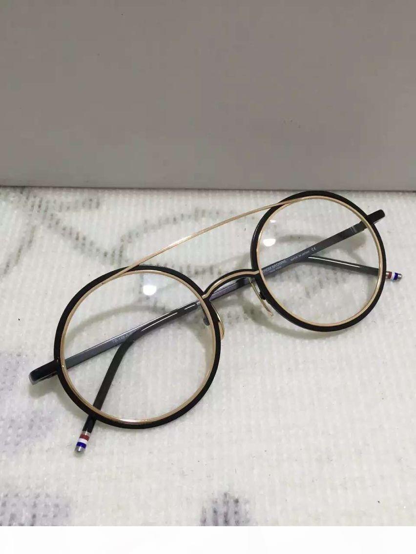 Yeni Güneş Çerçeveler TB-108 tahta çerçeve gözlük çerçevesi antik yollar oculos de grau kadın ve erkek miyopi gözlük çerçeveleri geri