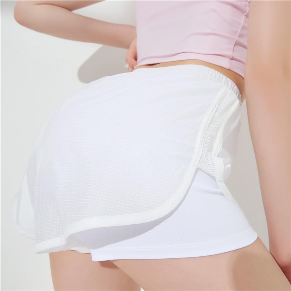 2019 celebridad de Internet Nueva ins translúcida de yoga pantalones cortos casuales de las mujeres que se ejecutan de fitness y de secado rápido pantalones cortos deportivos vBHed