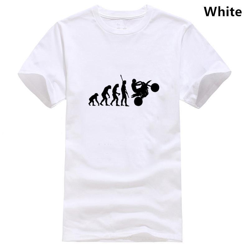 Motocicleta humana moto mono en la camiseta Evolución regalos de cumpleaños divertidos para el papá padre Men novio marido algodón de la camiseta del
