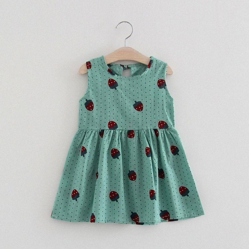 Yaz Kız Çiçek Bebek Çocuk Elbise Bebek Pamuk Yelek Çiçek Parti Elbise Çocuk Prenses Giyim Sevimli Günlük Elbiseler VaaA # yazdır