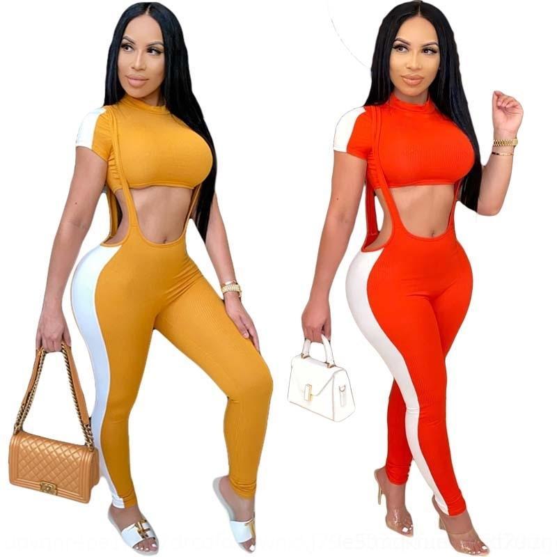xb2V0 der Schulterfrauen Schultergurt Hose Anzughose neue Weste kurze Ärmel Linie Y8041 Hosen der langen Riemen Anzug