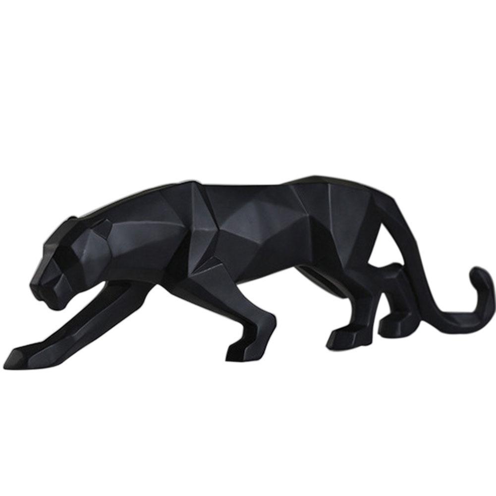 Simulation Tierleopard Statue Start Geometrische Ornament Büro-Geschenk Fertigkeit-Harz