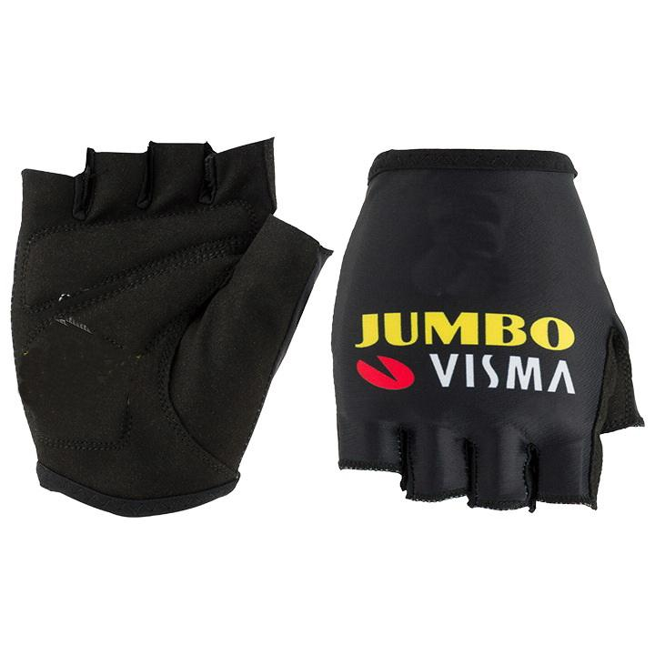 Hot Sale 2020 JUMBO Visma Luvas PRO equipe de ciclismo bicicleta Gel à prova de choque Sports Metade luva de dedo