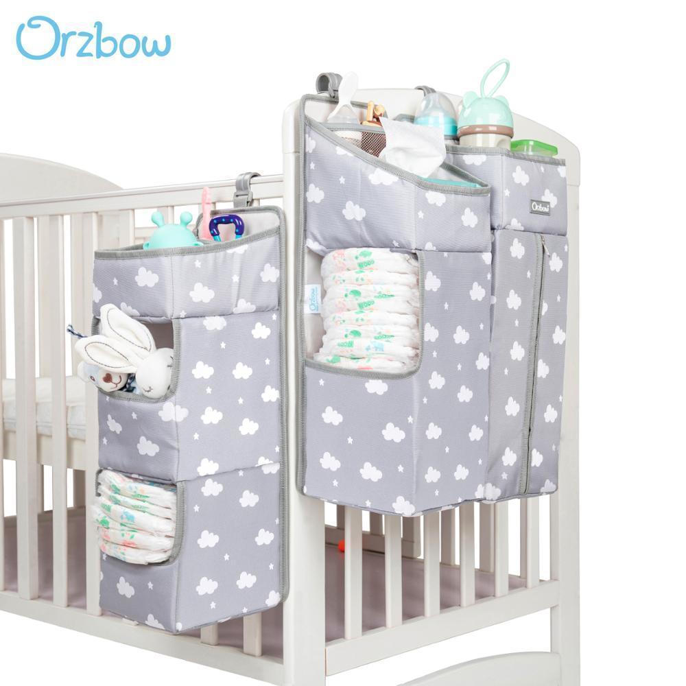 Orzbow bébé Lit de bébé Organisateur Sacs suspension pour bébé nouveau-né Literie organiseur Diaper sac de rangement du linge de lit enfants CX200822