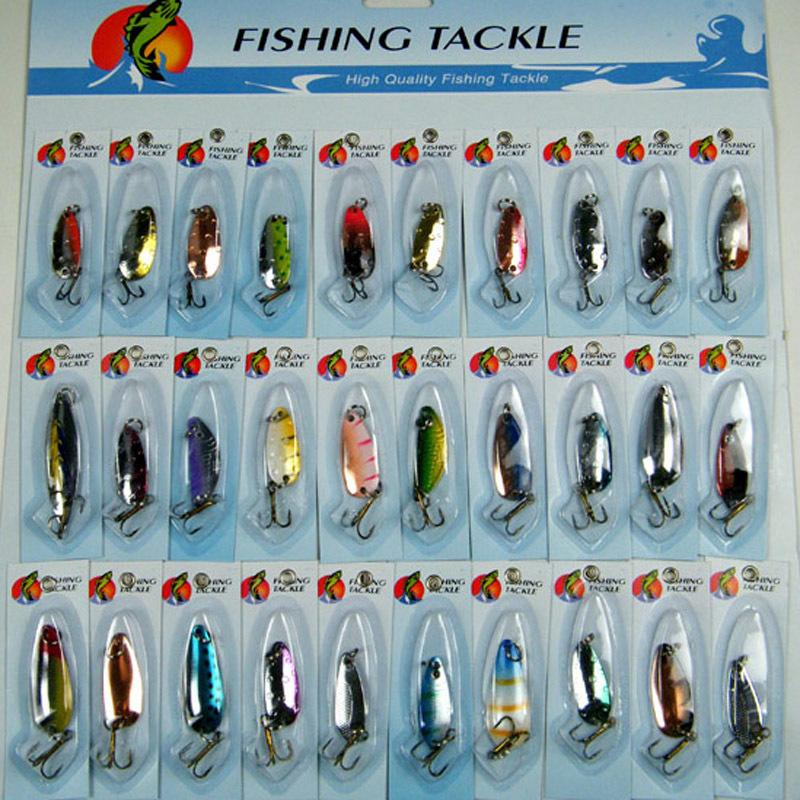 30Pcs Fishing Lures Assorted Metal Spoon Spinner Crank baits Pike Salmon Bass Carp Fishing Lure Wobblers Artificial Baits Pesca Y200829