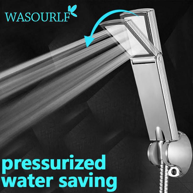 WASOURLF Ücretsiz duş başlığı basınç kare el duşu banyo tasarrufu Oxygenics su nakliye kaplama plastik krom abs