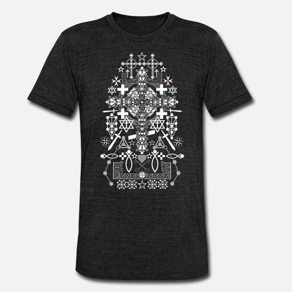 Готский монах 2 тенниска мужчины Характер футболка S-XXXL Винтажная Anti-Wrinkle Новая мода лето тонкий рубашка
