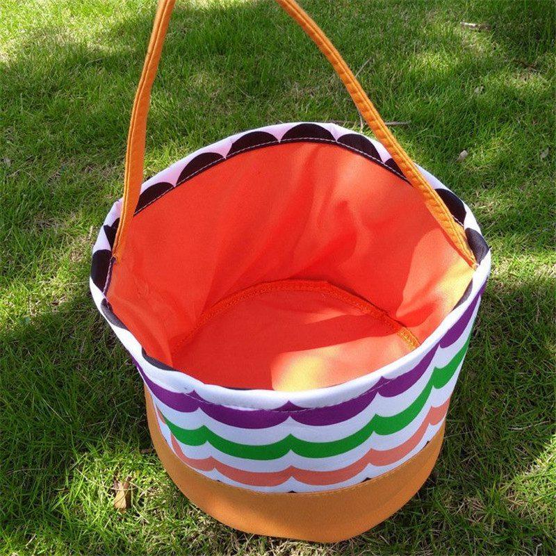 Doçura ou travessura baldes Halloween Candy Basket Fabric Tote sacos do presente Pumpkin Bag For Kids Halloween suprimentos 08
