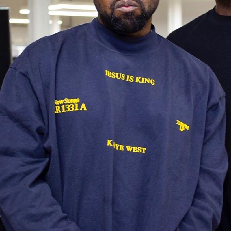 CPFM Kanye West Uzun Kollu T-shirt İsa Is Kral Pazar Hizmet Uzun Kollu Tee Casual Büyük Boy Tshirts Erkekler Kadınlar Hip Hop Streetwear