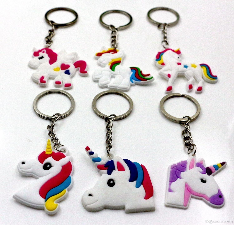 Keychain Cellphone Hot Keyring Sale Unicorn Charms Handbag Pendant Kids Gift Toys Phone Decoration Accessory Horse Key Ring Wholesale