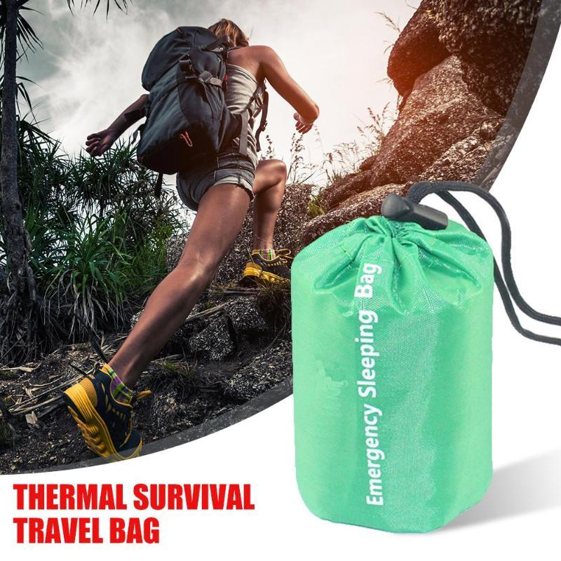New Lightweight Camping Sleeping Bag Outdoor Emergency Sleeping Bag With Drawstring Sack For Camping Travel Hiking 2020