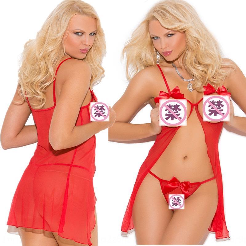 zdb5E Большой сетки размера перспективы Нижнего белье пижамы сексуальных нижнее белье Сплит женщины сексуальных пижамы ночной рубашки