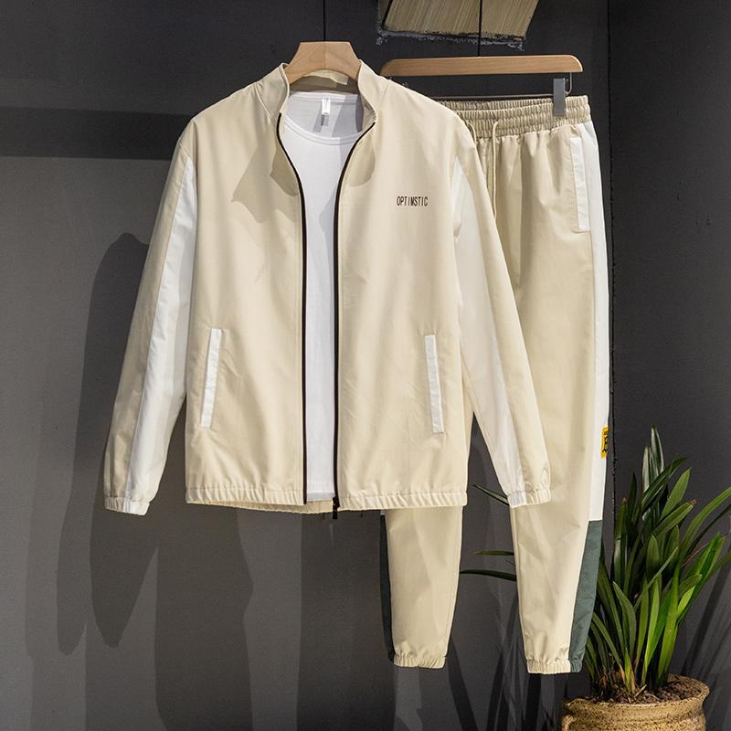 Casual Sport Costume Hommes Survêtement 2020 nouvelle veste de printemps et d'automne + Pantalon en deux parties Ensemble Survêtement beaux vêtements pour hommes de la jeunesse