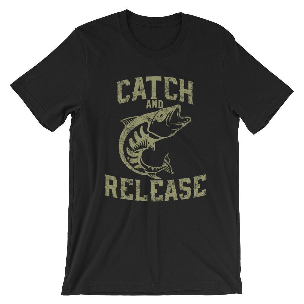Поймать и отпустить футболку. Рыбалка Fisherman 100% хлопок премиум Tee New Cool Casual гордость тенниски людей Unisex Новая мода