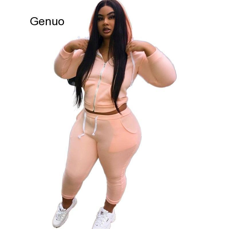 Women Two Piece Outfits Casual Sweatsuit 2 Piece Set Plus Size XL~5XL Tracksuit Hoodies Long Pants Sports Suit Matching Sets