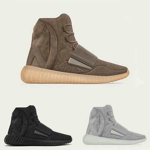 High Top Gris OG Colorway Bashful Chocolate 750 Triple Noir Marron Rouge Hommes Femmes Chaussures d'hiver Kanye Wests gris clair-Gum Glow Sole Sneakers