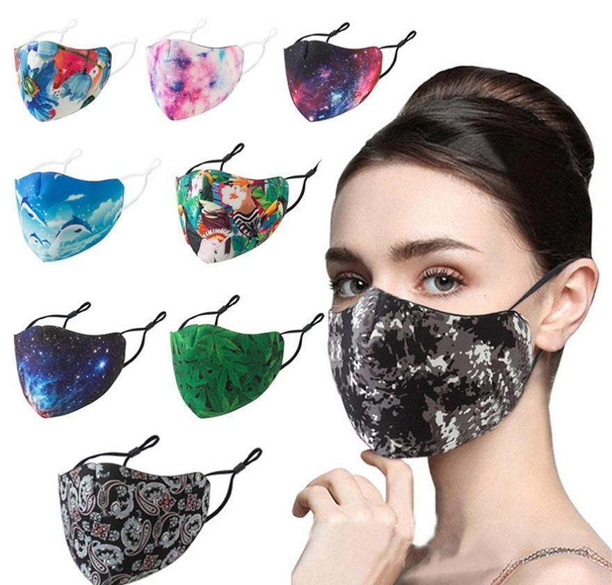 Máscaras ajustable del oído máscara verde de la hoja transpirable diseñador reutilizable suave polvo para adultos anti Cara manera de la hebilla de la boca Niebla Xhlight Hdmii