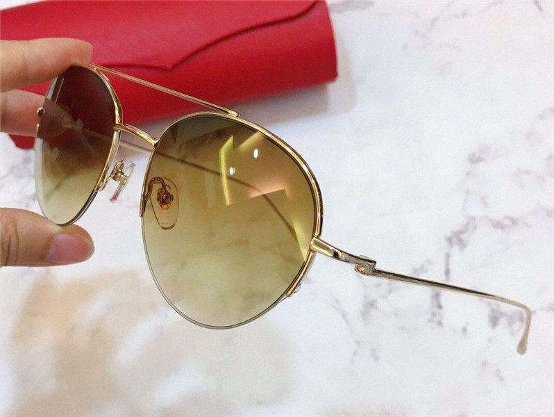 El nuevo diseñador de moda las gafas de sol 0095 redondo de metal de medio formato popular de venta estilo retro UV400 lente superior protección de la calidad de gafas DM8f #