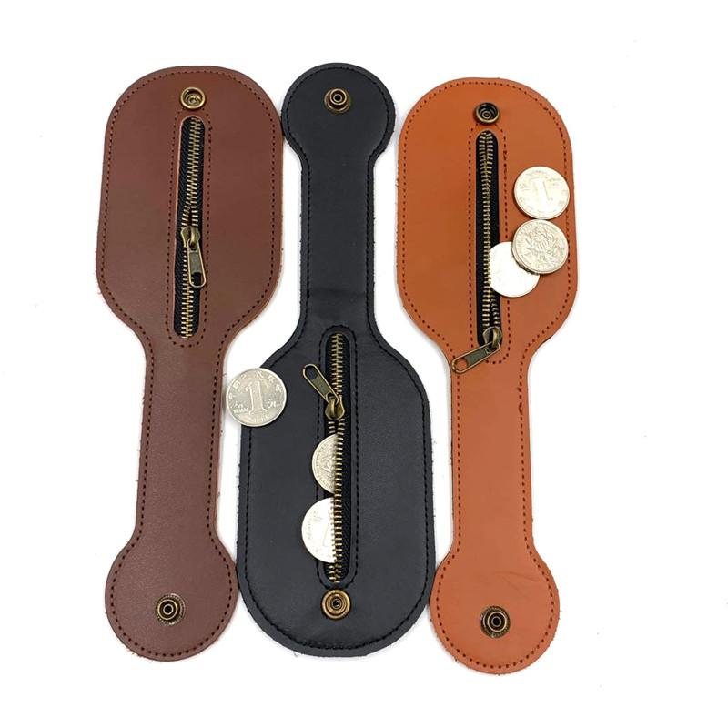 DHL Shipping Men Leather Coin Purse Women Handmade Card Package Portable Outdoor Wallet Buckle Belt Bag EDC Tool Fashion Vintage Bags BWF676