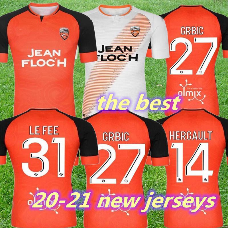 Новые 20 21 FC Lorient Soccer Tebacry Home Over Third 2020 2021 Maillot de Foot Lorient Hamel Umut Bozok Ponceau Wissa GRBIC Футбольные рубашки
