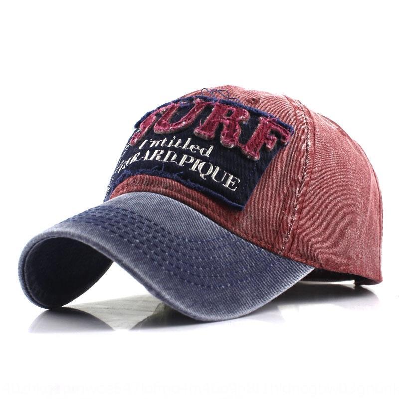 Yıkanmış kaplanmış pamuk eski bir şapka beyzbol beyzbol İşlemeli şapka kap SURF kap 6XaRe işlemeli