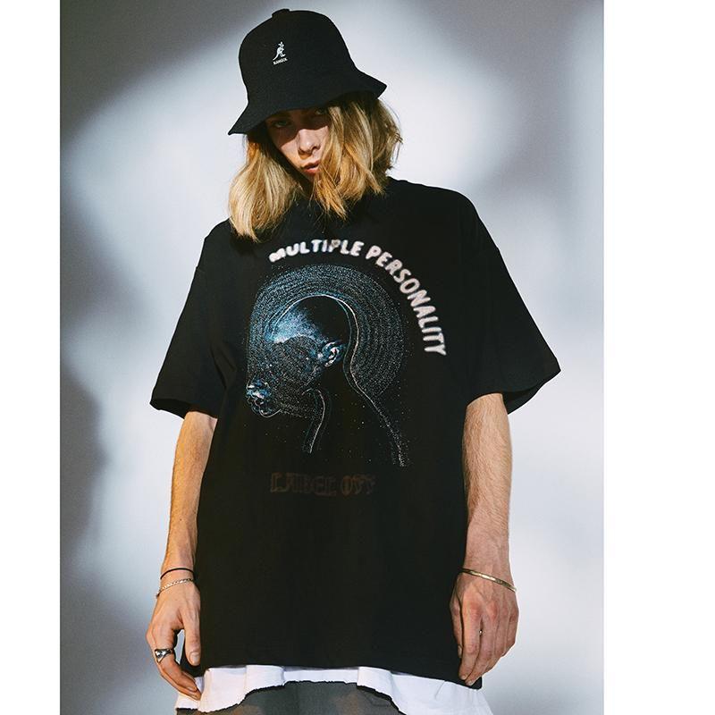 Erkekler 2020 Hip Hop Tişörtlü Streetwear Çok Kişilik Harajuku Tişört Oversize Kısa Kollu Yaz Tişört Pamuk Tees Tops