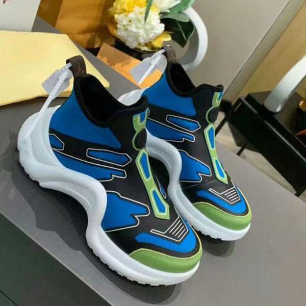 Louis Vuitton LV Lüks tasarımcı 2020 QJ çift rahat spor ayakkabıları kaliteli nefes alabilen kalın alt gündelik ayakkabı erkek ve kadın lüks spor ayakkabısı eski ac29