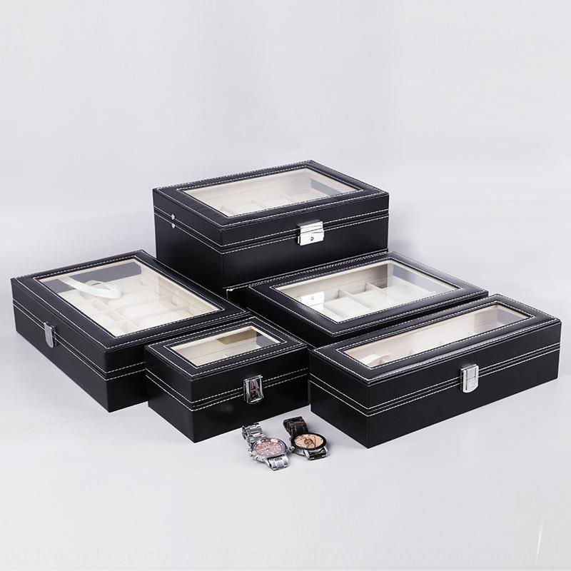Sandalun Zhiyuan haut de gamme PU cuir de stockage de bijoux boîte 6101220 bits Affichage ventes Montre boîte d'emballage OOutE