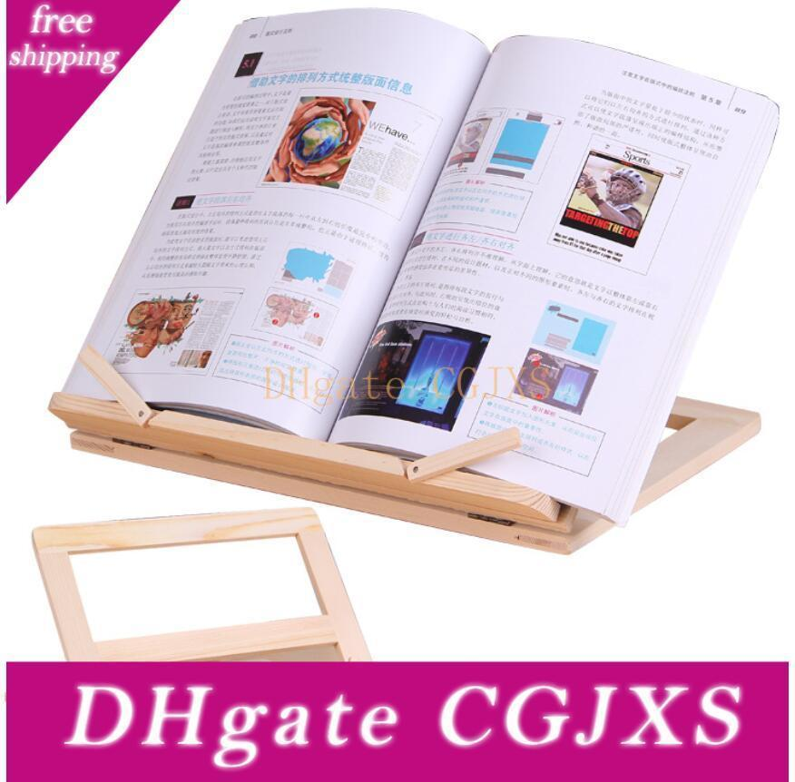New Adjustable Portable Wood Book Stand Holder Wooden Bookstands Laptop Tablet Study Cook Recipe Books Stands Desk Drawer Organizers