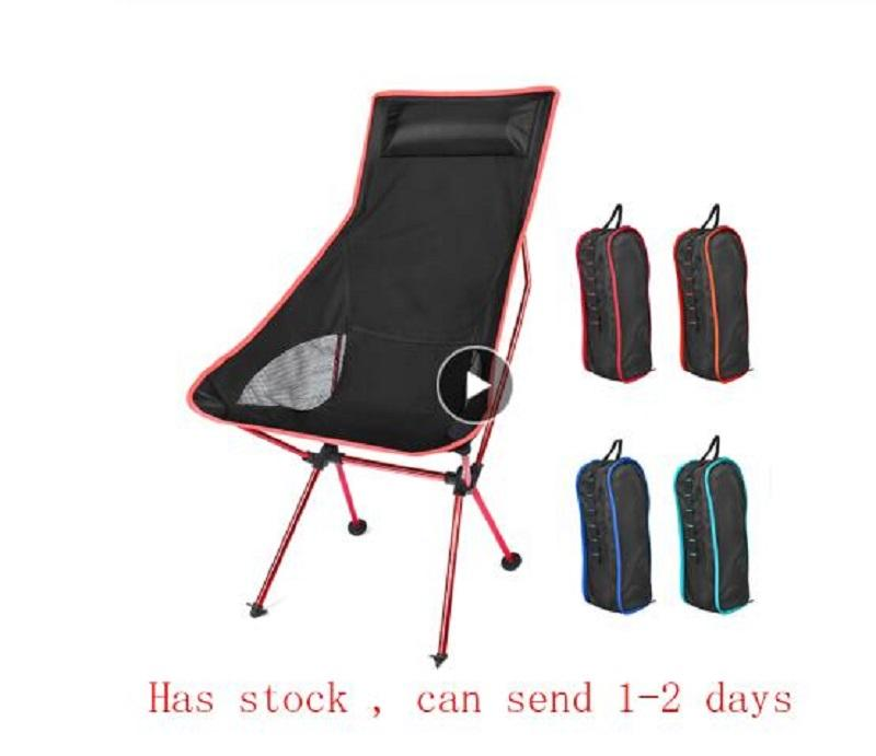 Portable Moon Chair Lightweight Fishing Camping BBQ Beach Chairs Folding Extended Hiking Seat Garden Ultralight Office Home Furniture