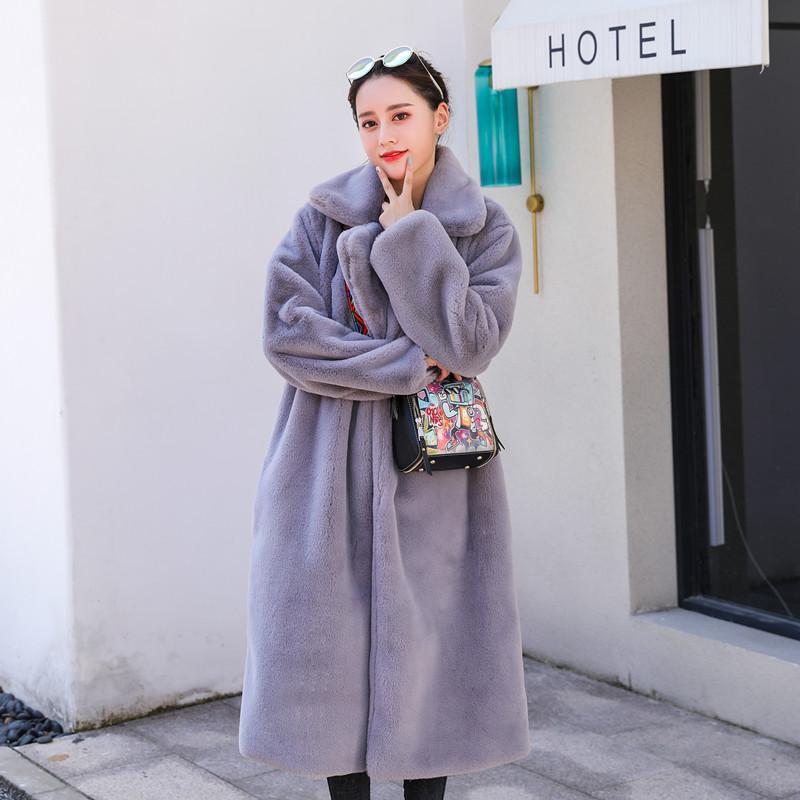 mulheres inverno nerazzurri casacos de pele falso peludo espessura quente de pelúcia jaqueta casaco amarelo preto longo macio, mais falso tamanho pele 5XL 6XL CX200818