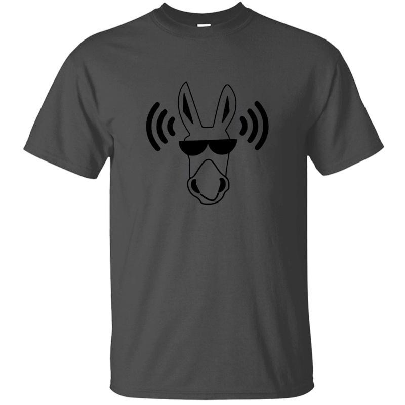 Imprimir Música Cavalo cabido Dj Donkey Mule animal Disco Dance T-Shirt O Neck Streetwear Harajuku Tshirts 2020 de manga curta