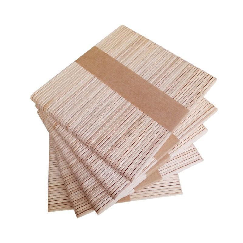 100PCS Frau Holzkörperhaarentfernung Sticks Wachs-Wachs Einweg-Sticks Beauty Kultur Kits Holz Zungenspatel Spatula New