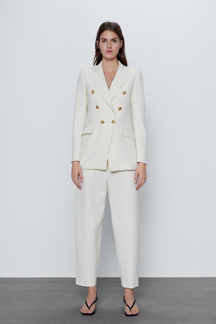 AVwIt ZA2020RA yeni stil kadın giyim bahar Düğme basit gündelik orta uzunlukta aynı Coat ceket düğmesi dekoratif takım elbise