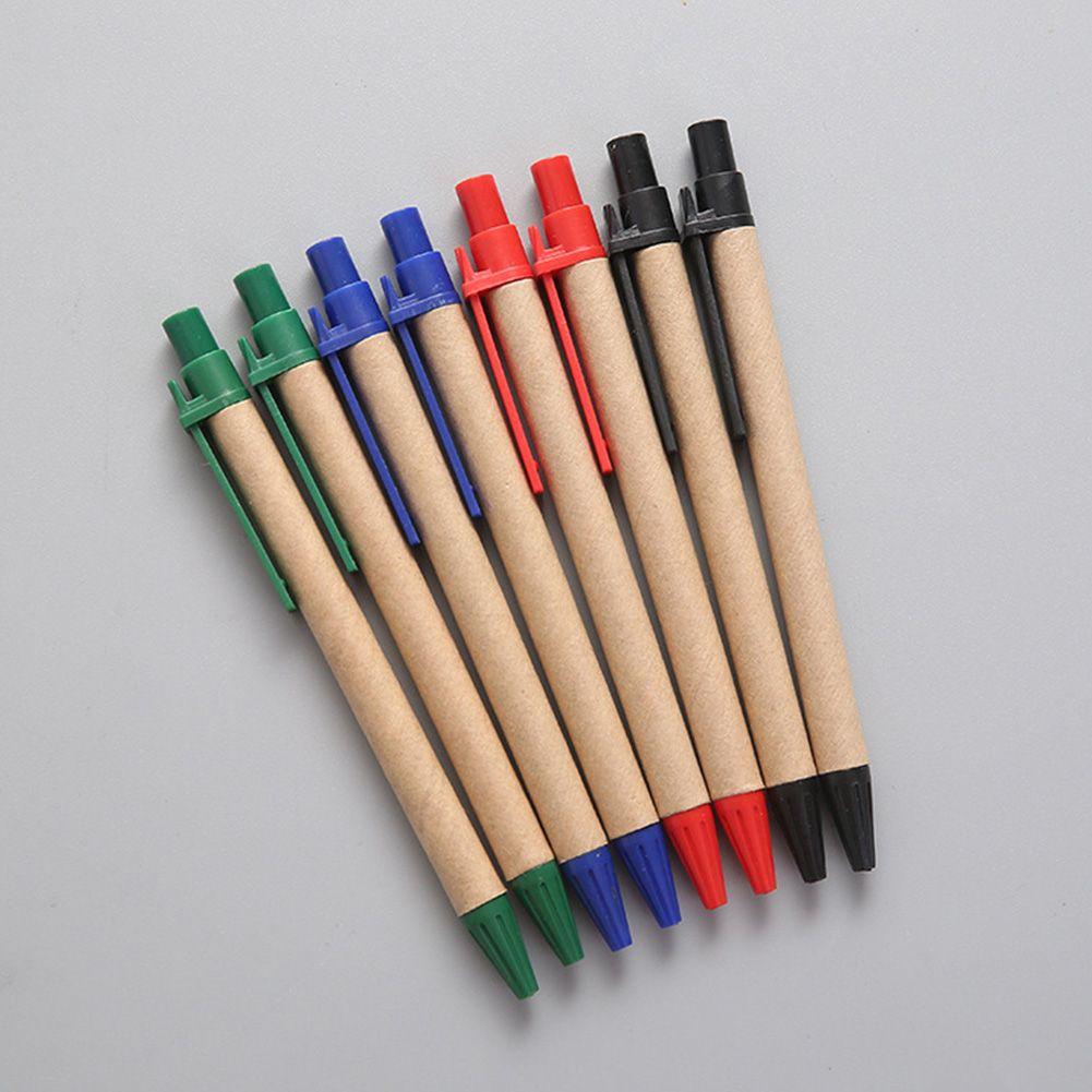Bureau Handwriting Eco Friendly stylo à bille d'affaires des étudiants 0.5mm Tip Kraft Paper