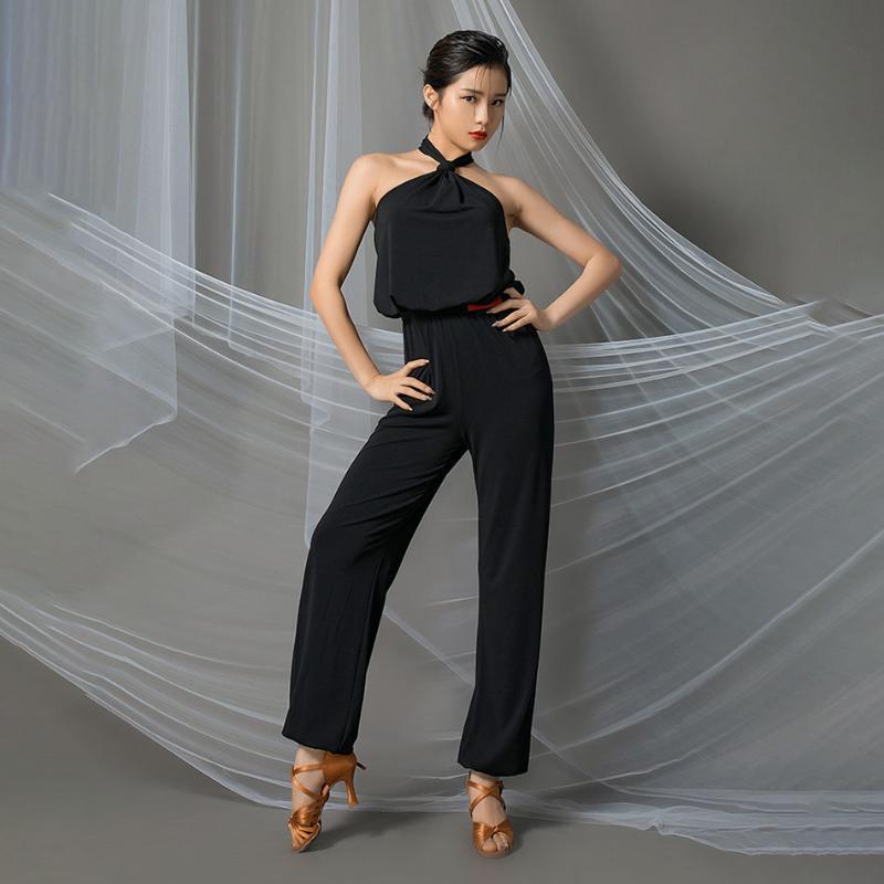 Latin Dance Dress Women Bare Shoulder Collar Design Latin Dance Tops for Ballroom Samba Tango Chacha Dancing Performamnce L9656