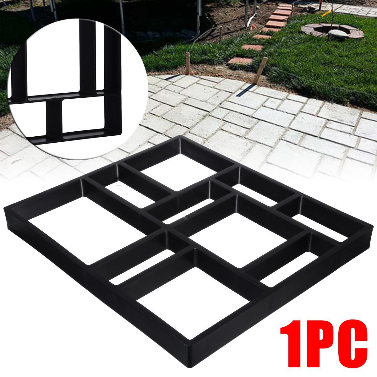 Jardin Mold Bricolage Chemin Maker Pavage Moule en pierre de ciment Brick Road Moisissures Moule en plastique pour les fournitures de construction Jardin