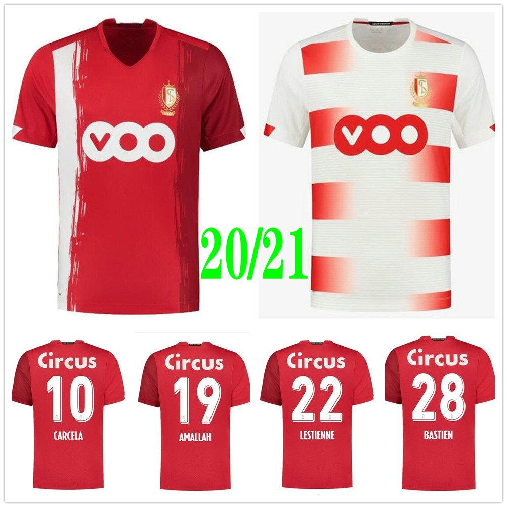 2020 2021 Standard Liege Soccer Jerseys VANHEUSDEN LAIFIS CIMIROT EMOND CARCELA Custom 20 21 Home Away R.Standard de Liege Football Shirt