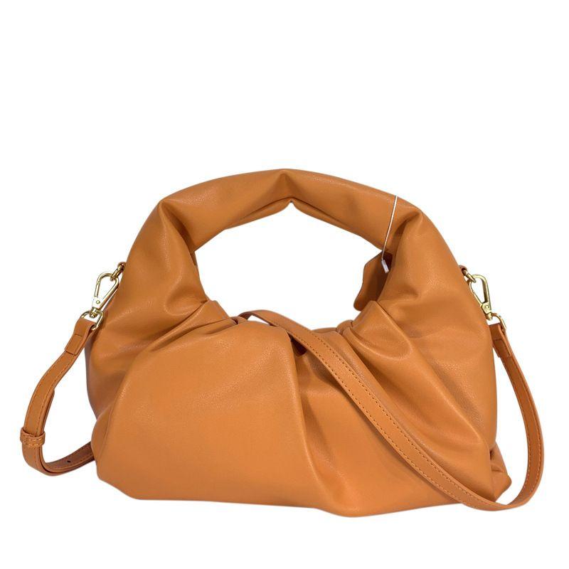 Pleated Cloud Bag Female 2020 Summer New round Handbag Casual Clutch Dumpling Bag Non-Mainstream Design