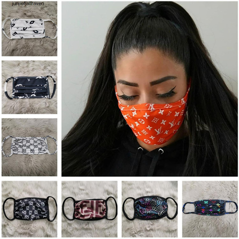 Designer UV-proof Anti-Gesichtsmaske Luxus Staub Mouth-Muffel Frauen Gesichtsmasken Schutz Waschbar Sport-Gesichtsmaske 12 Farben 1o7nu