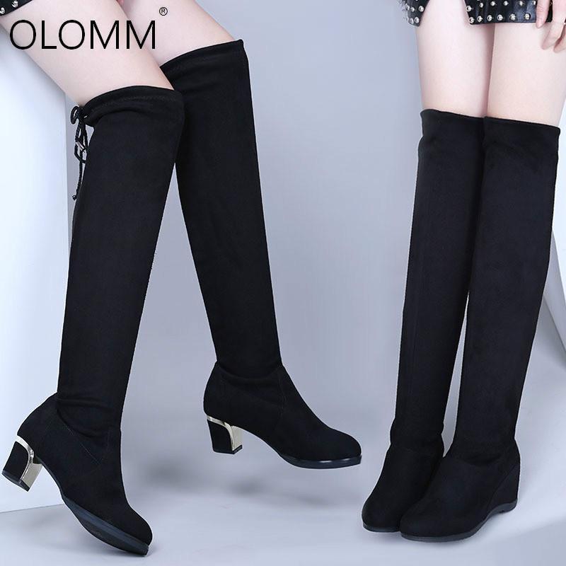 New Winter Over-the-knee Boots aumento delle donne Stivaletti per le donne Zapatos De Mujer Inverno