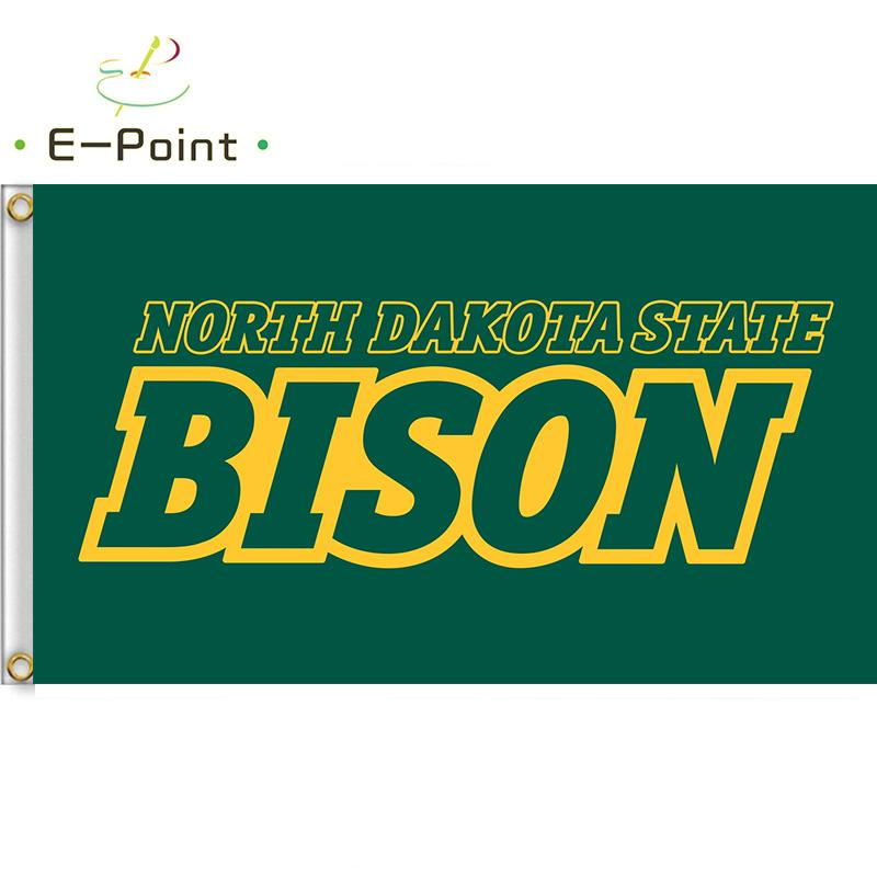 Flagge von NCAA North Dakota State Bison Polyester-Flagge 3 ft * 5 Fuß (150cm * 90cm) Flagge Bannern Dekoration nach Hause fliegen Garten im Freien Geschenk