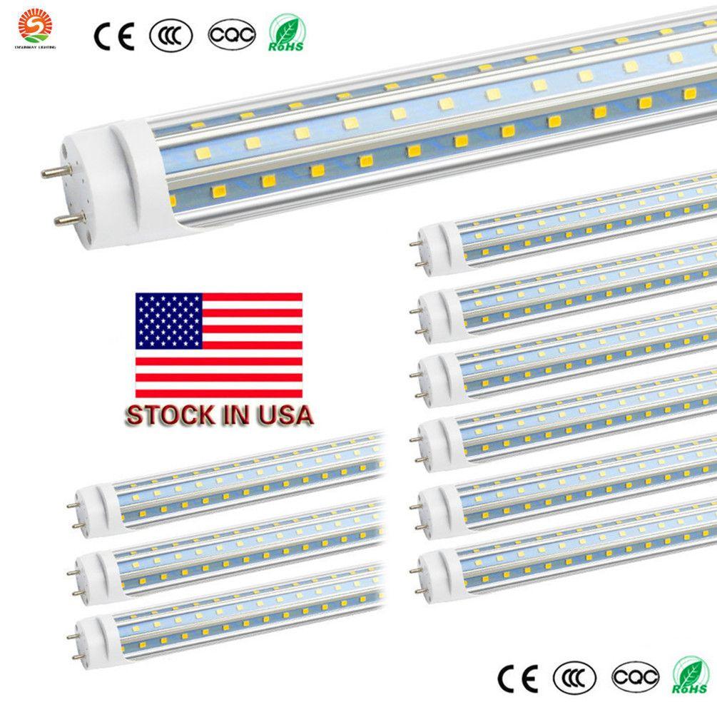 T8 Светодиодные лампы 4 фута 4 фута 1200mm 60W 48W 22W 28W светодиодные трубки свет лампы G13 работы в существующие Крепеж Дооснащаемый свет