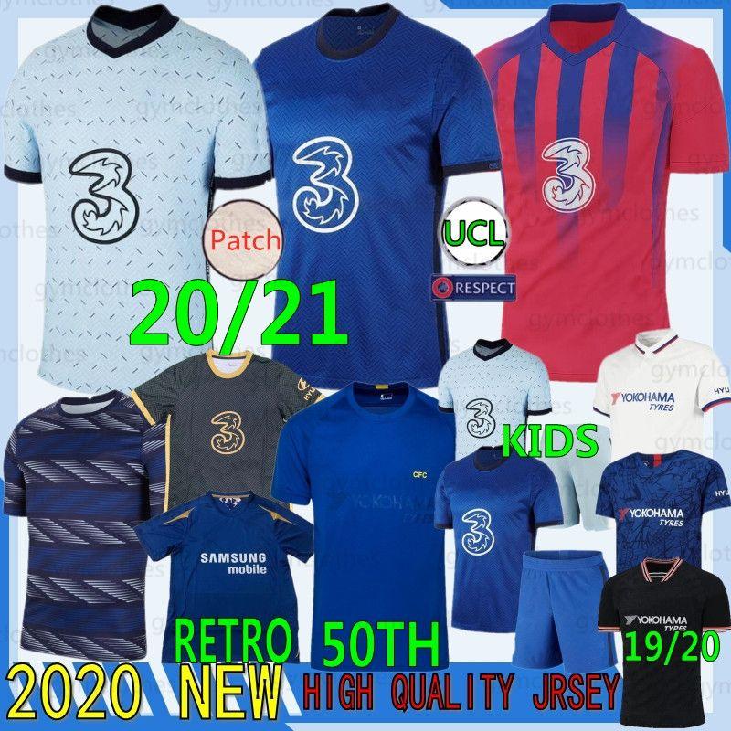 20/21 Thai Pulisic Kante Abraham Lampard Odoi Willan Nova Jerseys Giroud Camiseta de Futebol Kits Camisa Mulheres Mulheres Uniforme