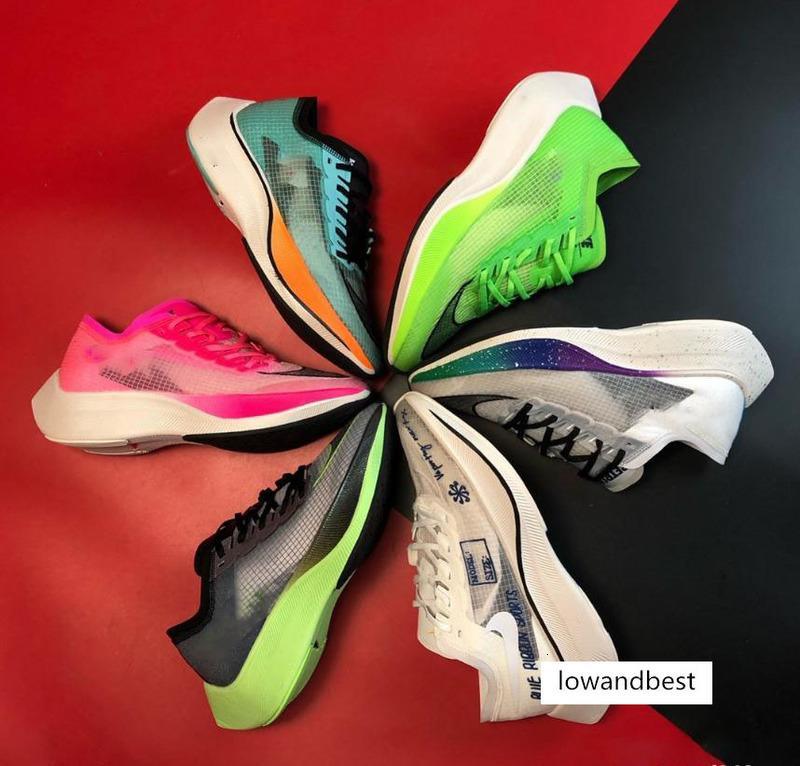 2020 erkekler için en yeni ZoomX VaporFly Sonraki% orijinal kutusu hakiki standart yüksek frekanslı ayakkabıları 40-45 çalıştıran maraton yastıklama örgü nefes alabilen