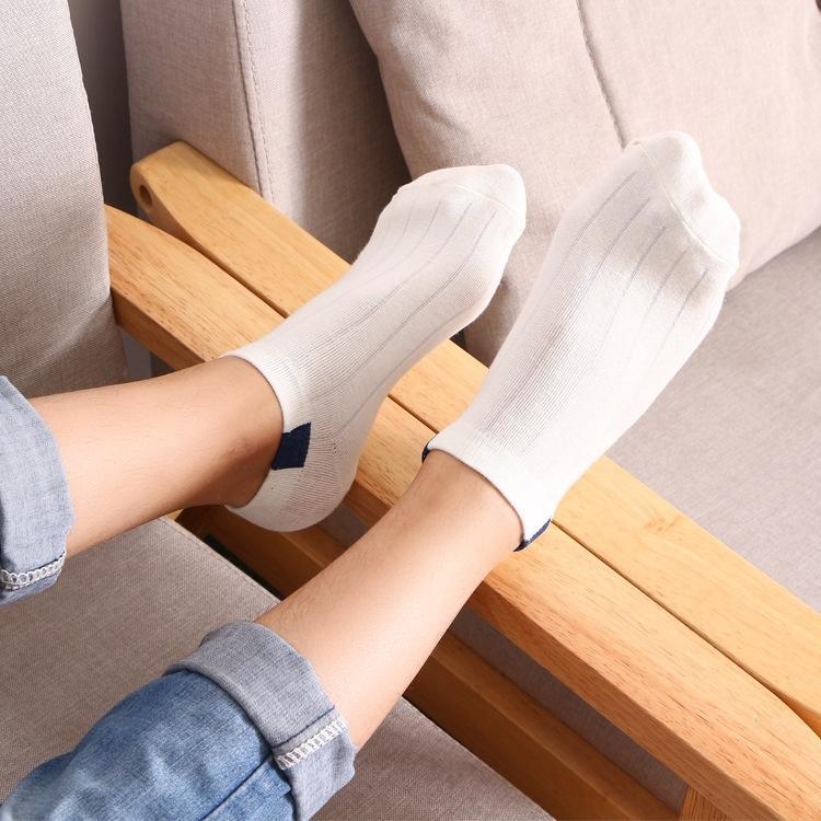 IBiAU XRhqa nouvelle pile d'été de couleur printemps et sockssocks coton coton déodorant à la transpiration rayures bateau Luokou c chaussettes bateau-bouche peu profonde lo