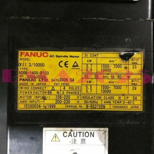 A06B-1405-B103 A06B1405B103 FANUC UTILISÉ 1pc entièrement TESTE BM54