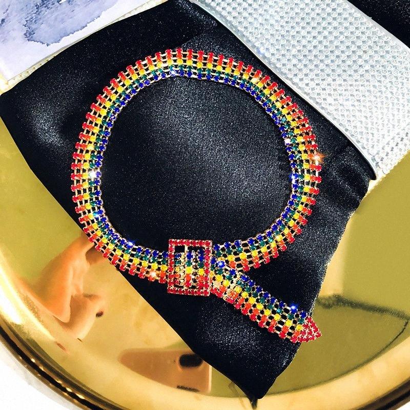Europäische und amerikanische reizvolles Temperament Weibliche Claviclekette Zubehör einfache Art und Weise Strass Kurze Halskette Schmuck NBt9 #