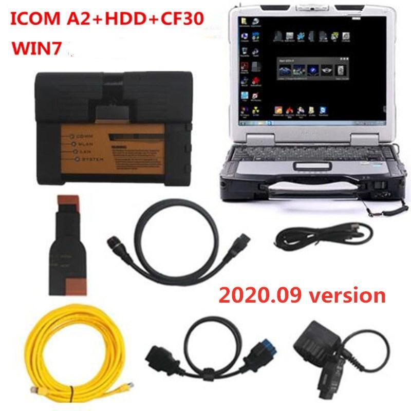 2020 para bmw icom a2 b c com software CF30 laptop HDD 500GB ferramenta de diagnóstico modo expert ista para bmw obd cabo pronto para uso